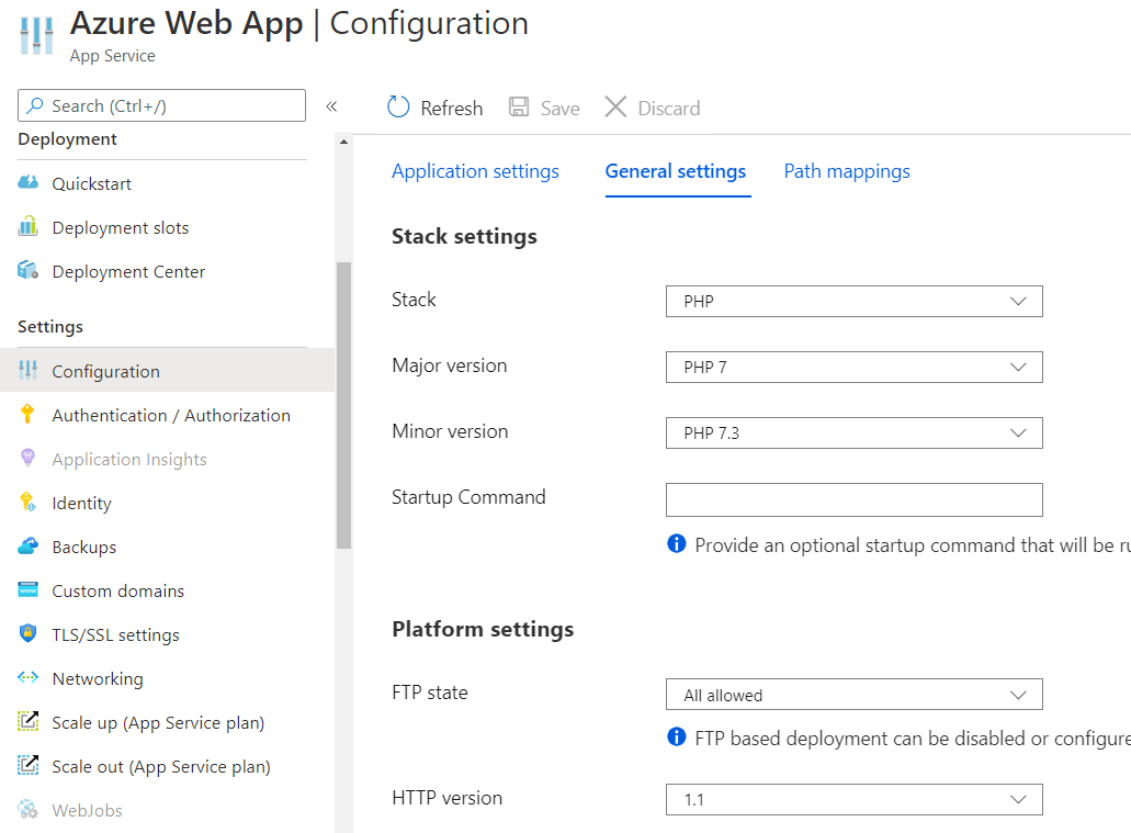 Static Website hosting in an Azure Storage Account